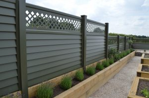 Metal Garden Fencing - Green