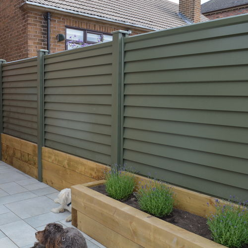 Installed metal fencing