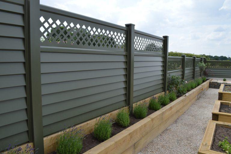 Metal Garden Fencing - Green