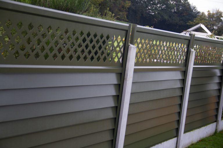 Green Metal DIY fence