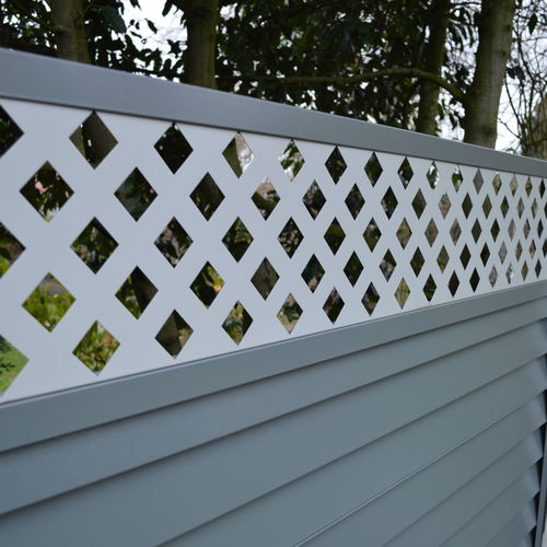 metal garden fence - grey