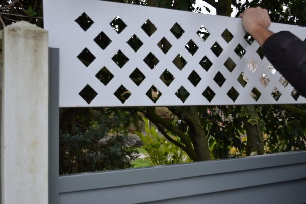 Diamond Lattice Fence Panel
